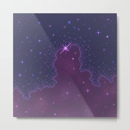 Plum Cloud Galaxy Metal Print