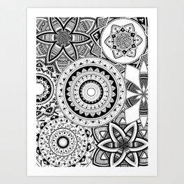 Mandalas in a lace Art Print