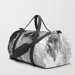 english bulldog dog vector art black white Duffle Bag