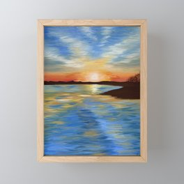 End of a Perfect Day Framed Mini Art Print