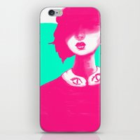 contemporary iPhone & iPod Skins featuring Contemporary Collar by Ben Geiger