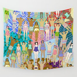 Sun Tan City Wall Tapestry