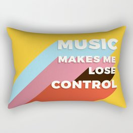 MUSIC MAKES ME - TYPOGRAPHY Rectangular Pillow