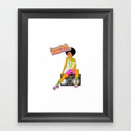 Roller Disco Framed Art Print