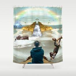 dreamer in Laguna Beach Shower Curtain
