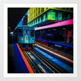 Brown Line Approaching Art Print