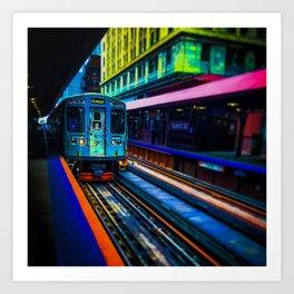 Brown Line Approaching Art Print