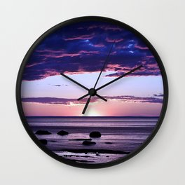 Coastal Sunset Sainte-Anne-Des-Monts Wall Clock