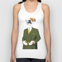 english bulldog Tank Tops featuring English Bulldog by drawgood