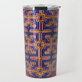 Song for Creativity - Traditional Shipibo Art - Indigenous Ayahuasca Patterns Travel Mug
