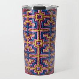 Song for Creativity - Traditional Shipibo Art - Indigenous Ayahuasca Patterns Travel Mug