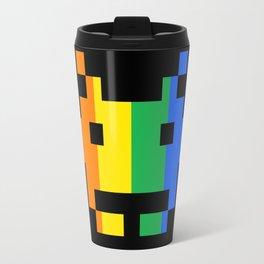 Rainbow Space Invader Travel Mug