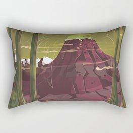 Erupting Volcano in the Swamp Cartoon Rectangular Pillow