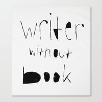 writer Canvas Prints featuring Writer  by marisell