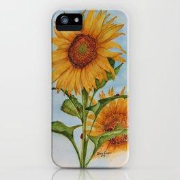Sunflowers & Ladybugs for Jess iPhone Case