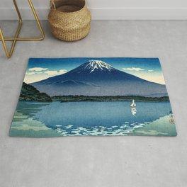 Tsuchiya Koitsu - Mount Fuji and Shoji Lake - Japanese Vintage Woodblock Ukiyo-E Rug