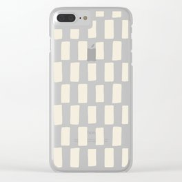 Shapes Nr.5 - White Blocks Clear iPhone Case