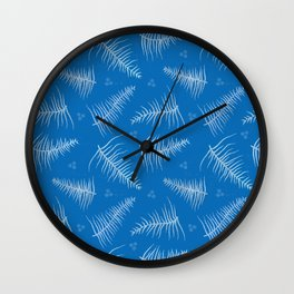 Frosted Fronds & Berries Wall Clock