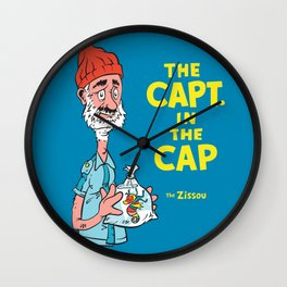 The Capt. In The Cap Wall Clock