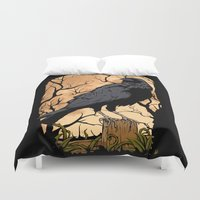 crow Duvet Covers featuring Crow by Murat Sünger