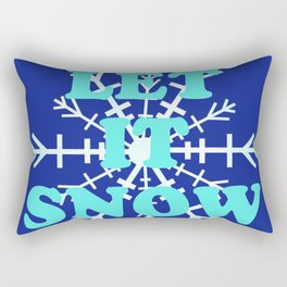 Let It Snow classic winter snowflake pattern Rectangular Pillow