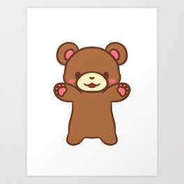 Teddy Hugs!! Art Print