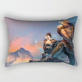 League of Legends-Tryndamere and Ashe Rectangular Pillow