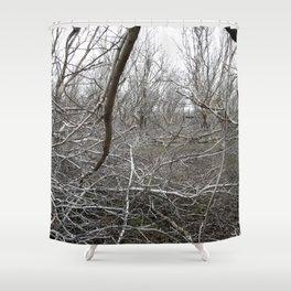 Sticks B/W Shower Curtain