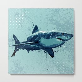 Guppy | Great White Shark Metal Print