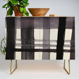 Painterly Plaid Credenza