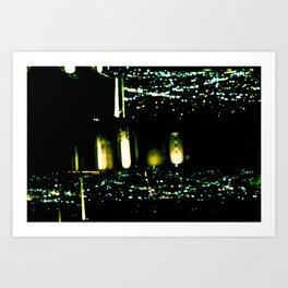 Los Angeles through a pinhole, horizontal Art Print