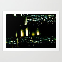 Los Angeles through a pinhole, horizontal Art Print