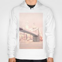 brooklyn bridge Hoodies featuring Brooklyn Bridge by Vivienne Gucwa