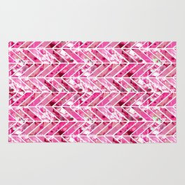 Cherry Bomb Chevron Rug