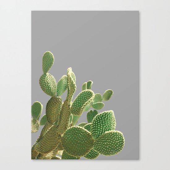 Minimal Cactus Canvas Print