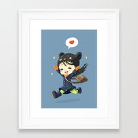 happiness Framed Art Prints featuring Happiness by Freeminds