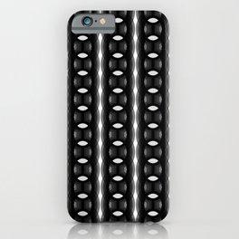 Retro-Delight - Continuous Chains (Oval) - Black iPhone Case