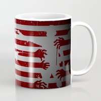 the walking dead Mugs featuring walking dead by Molnár Roland