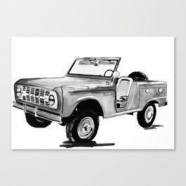 Early Bronco Roadster Canvas Print