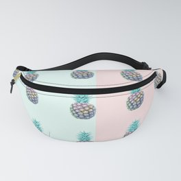 Pineapple with pastel background Fanny Pack