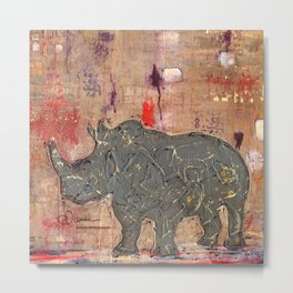 majestic series: rhino's are tough enough Metal Print