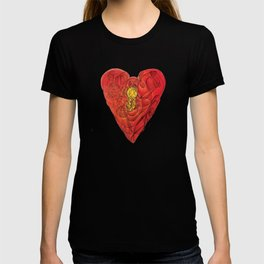 Heart Lock Abstract NeoNeoCubism T-shirt