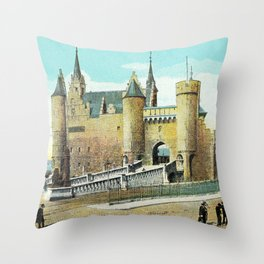 Antwerpen Antwerp Steen medieval castle Throw Pillow