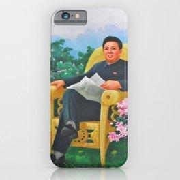 Kim Jong Il North Korean Propaganda iPhone Case