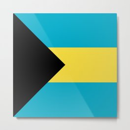 Flag: The Bahamas Metal Print