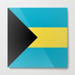 Flag: The Bahamas Metal Print
