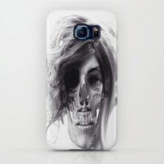 ABSTRACT GIRL SKULL PORTRAIT Galaxy S8 Slim Case