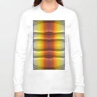 quilt Long Sleeve T-shirts featuring Quilt Pattern  by Zenya Zenyaris