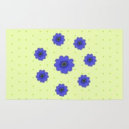 Flowers in Grass Rug