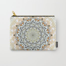 Overlapping Bee Mandala (Color) Carry-All Pouch